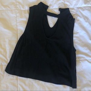 Black Tank Top with Cutout
